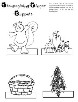 Thanksgiving Puppets Craft