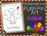 Thanksgiving Push Pin Art FREEBIE
