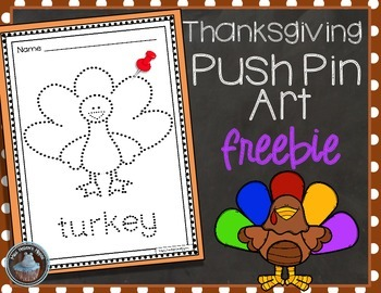 Thanksgiving Push Pin Art FREEBIE