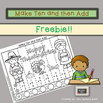 Thanksgiving Puzzle - Make Ten and then Add