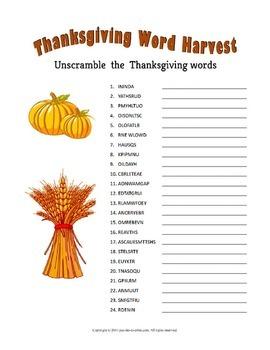 Thanksgiving Puzzle Bundle