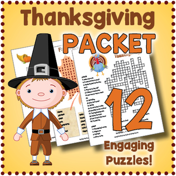 photograph about Thanksgiving Puzzles Printable referred to as Thanksgiving Puzzle Pack via Puzzles in direction of Print Academics Spend