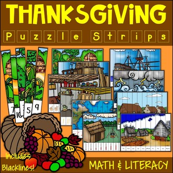 Thanksgiving Puzzle Strips