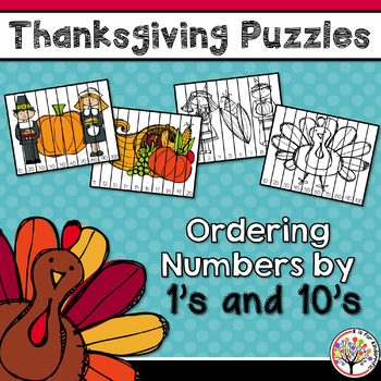 Thanksgiving Activities - Ordering Numbers by 1\'s & 10\'s | TpT
