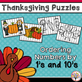 Thanksgiving Activities - Ordering Numbers by 1's & 10's
