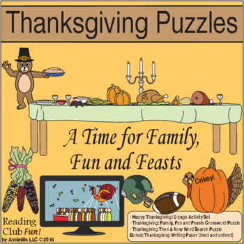 A Time for Family, Fun and Feasts (Thanksgiving Puzzles Set)