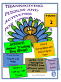 Thanksgiving Puzzles for Upper Grades -Volume 2 - Science and Social Studies