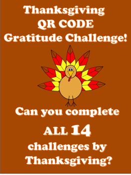 Thanksgiving QR CODE Gratitude Challenge