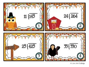 Thanksgiving QR Code Fun: Division Task Cards