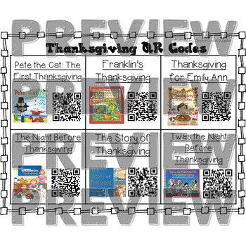 Thanksgiving QR Code Read Alouds