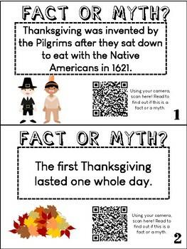 Thanksgiving QR Code Scavenger Hunt: Supporting Evidence