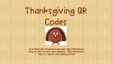 Thanksgiving QR Codes for Listening Centers!