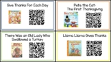 Thanksgiving QR Read Alouds