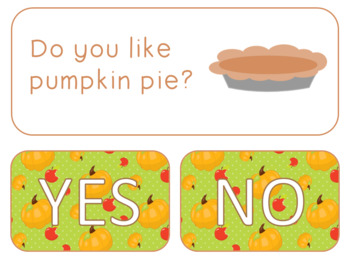 Thanksgiving Question of the Day Freebie