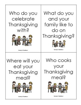 Thanksgiving Questions - Fan-n-Pick, Centers, or Discussion