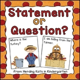Thanksgiving Activities: Statement and Question Sort