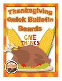 Thanksgiving Quick Bulletin Boards