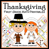 Thanksgiving No Prep Common Core Math (1st grade)