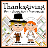 Thanksgiving No Prep Common Core Math (5th grade)