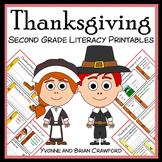 Thanksgiving No Prep Common Core Literacy (2nd grade)
