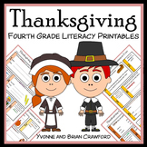 Thanksgiving No Prep Common Core Literacy (4th grade)