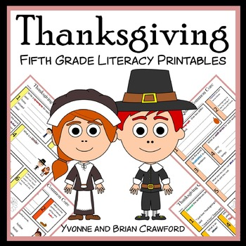 Thanksgiving No Prep Common Core Literacy (5th grade)