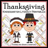 Thanksgiving No Prep Common Core Literacy (kindergarten)