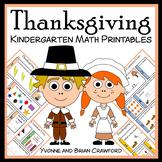 Thanksgiving No Prep Common Core Math (kindergarten)
