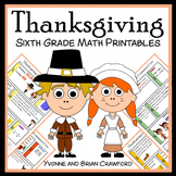 Thanksgiving No Prep Common Core Math (sixth grade)