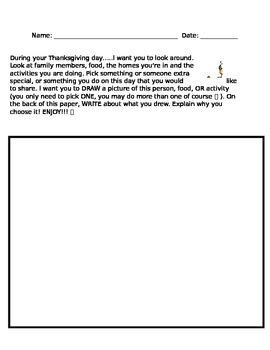 Thanksgiving Quick Write