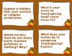 Thanksgiving Quiz Quiz Trade Cards - Warmup, Morning Meeti