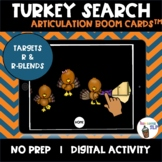 Thanksgiving R and R-blends Articulation Boom Cards™ Turkey Search Game
