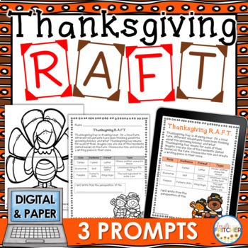Thanksgiving RAFT Writing Activity