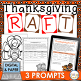 Thanksgiving RAFT Creative Writing Activity