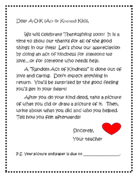 Thanksgiving - Random Acts of Kindness