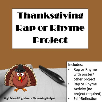 Thanksgiving Rap or Rhyme Project
