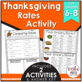 Thanksgiving Rates Activity