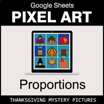 Thanksgiving - Ratios & Proportions - Google Sheets Pixel Art