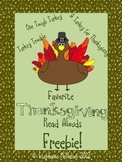 Thanksgiving Read Alouds Freebie Pack- Turkey books! PDF and matching PowerPoint