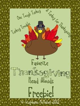 Thanksgiving Read Alouds Freebie Pack- Turkey books! PDF a