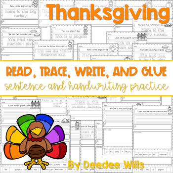 Thanksgiving Read, Trace, Glue, and Draw