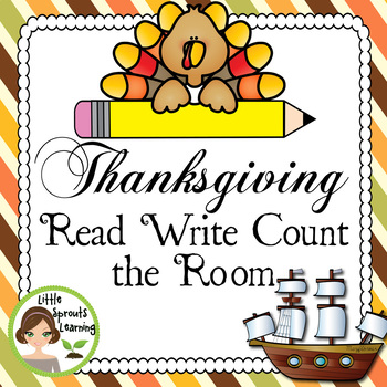 Thanksgiving Read Write and Count the Room