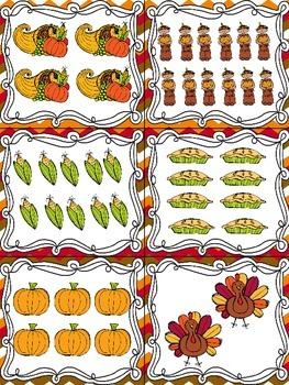 Thanksgiving Read, Write, and Count the Room {Literacy and Math} {CCSS}