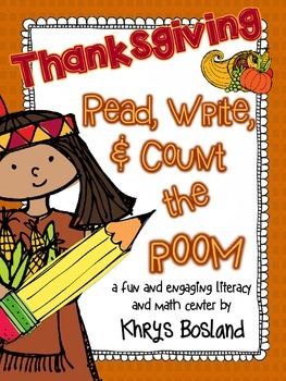 Thanksgiving Read, Write, and Count the Room {Literacy and