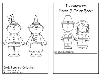 Thanksgiving Sight Words Game + Read and Color Book