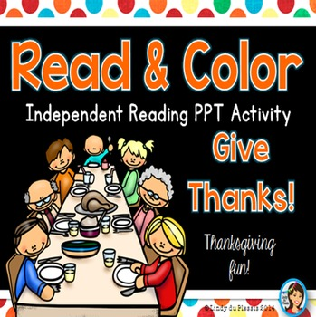 Thanksgiving Read and Color PowerPoint