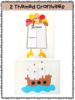 Thanksgiving: Reading Comprehension, Writing and Craftivities