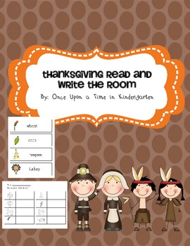 Thanksgiving Read and Write the Room