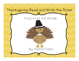 Thanksgiving Read and Write the Room: Fry's First 100