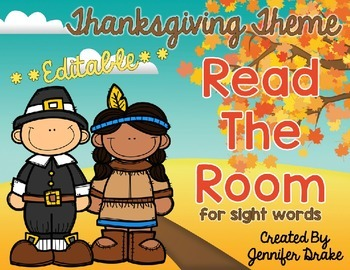 Thanksgiving Read the Room **EDITABLE**